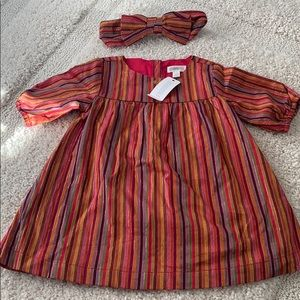 Gymboree fall dress with head bow